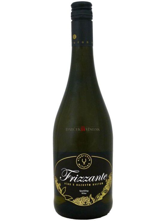 Frizzante - víno s bazovým kvetom, perlivé ovocné víno, sladké, 0,75 l