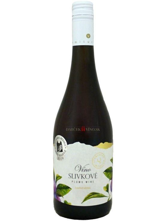 Slivkové víno, značkové ovocné víno, sladké, 0,75 l